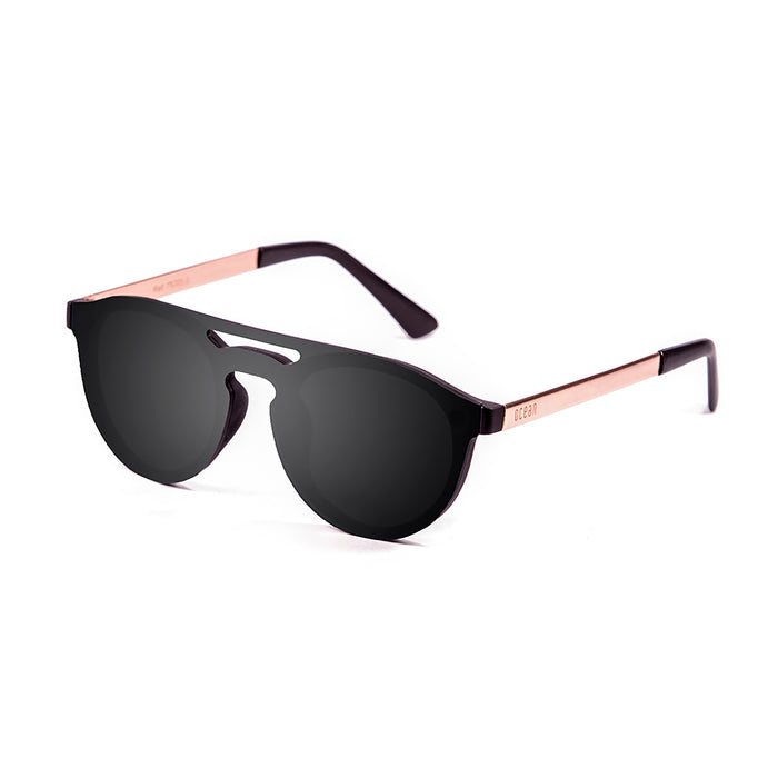 ocean sunglasses KRNglasses model SAN SKU 75200.0 with matte black frame and smoke flat lens