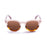 ocean sunglasses KRNglasses model SANTA SKU 62000.94 with brown stained frame and brown lens