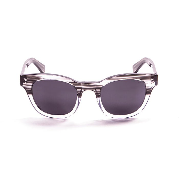 ocean sunglasses KRNglasses model SANTA SKU 62000.0 with brown & white frame and smoke lens