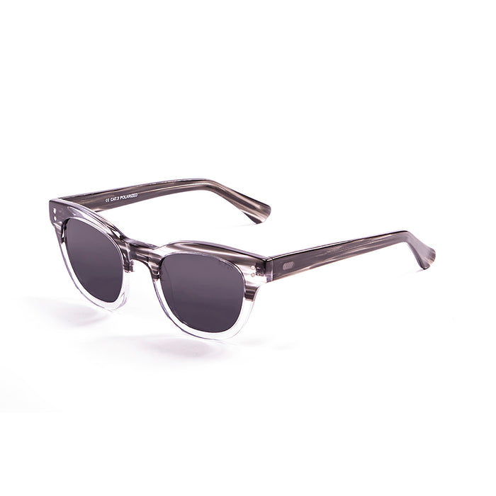 ocean sunglasses KRNglasses model SANTA SKU 62000.1 with brown & white frame and revo blue lens