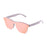 ocean sunglasses KRNglasses model SOCOA SKU 40003.5 with matte white transparent frame and revo blue sky flat lens