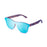 ocean sunglasses KRNglasses model SOCOA SKU 40003.1 with matte black frame and silver mirror flat lens