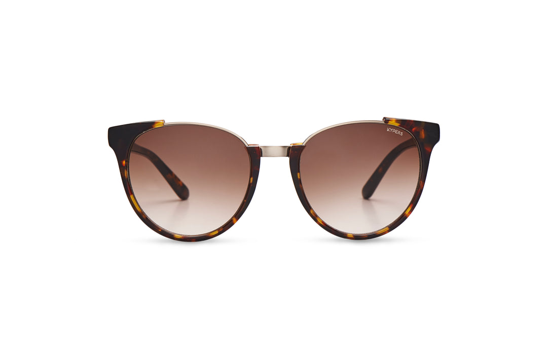 KYPERS sunglasses model SCARLETT ST001 with havana frame and grey degrade lens