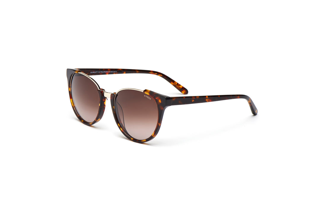 KYPERS sunglasses model SCARLETT ST002 with black havana frame and grey degrade lens