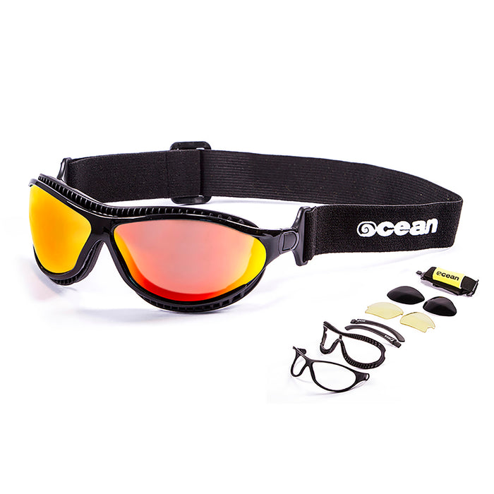 Ocean sunglasses model tierra de fuego with frame and lens polarized eyewear for kiteboarding and surfing