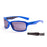 Ocean sunglasses model venezia 3100.3 with shiny blue frame and smoke lens polarized eyewear for water sports