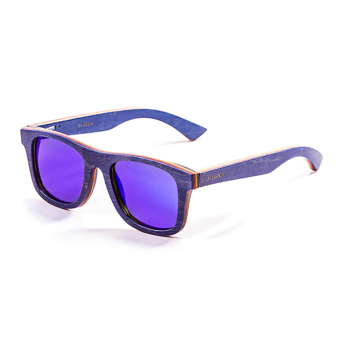ocean sunglasses KRNglasses model VENICE SKU 54001.7 with skate brown & line blue frame and brown lens
