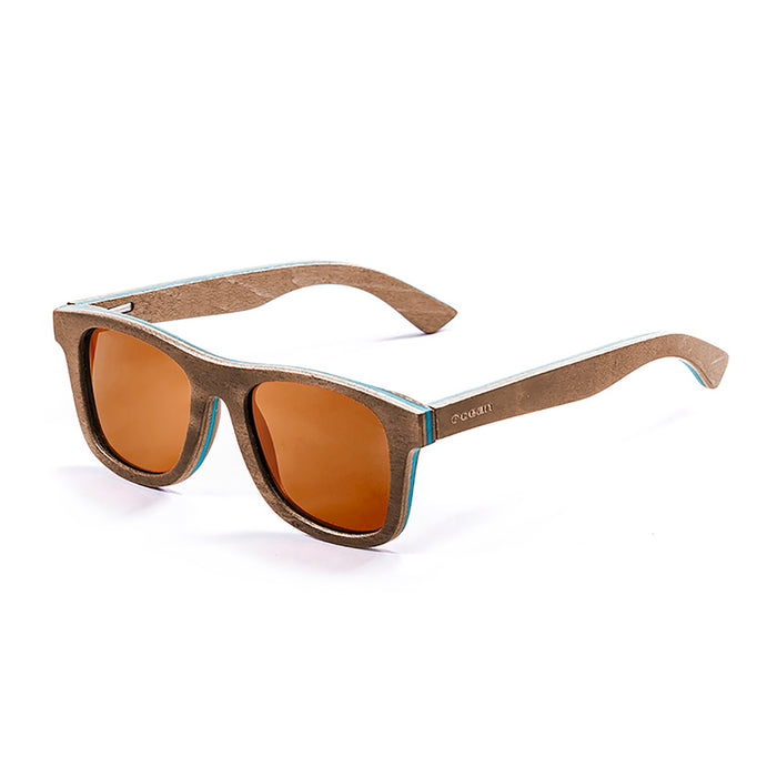 ocean sunglasses KRNglasses model VENICE SKU 54001.3 with skate brown frame and brown lens