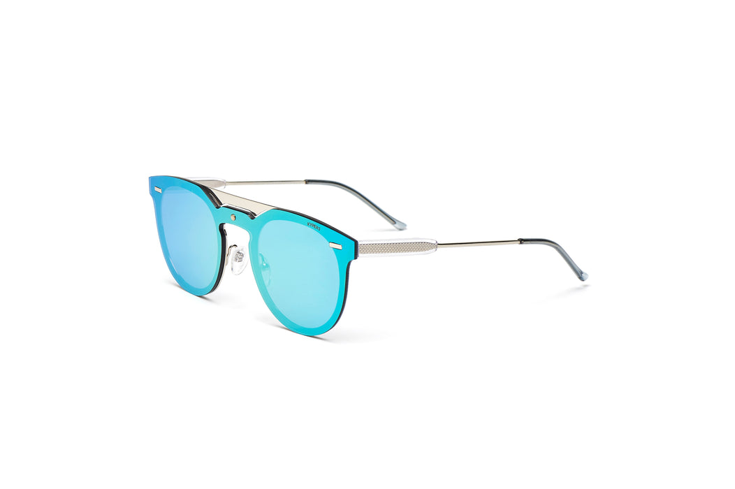 KYPERS sunglasses model VIAN VN001 with silver frame and blue lens