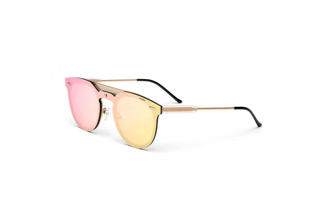 KYPERS sunglasses model VIAN VN003 with silver frame and green lens