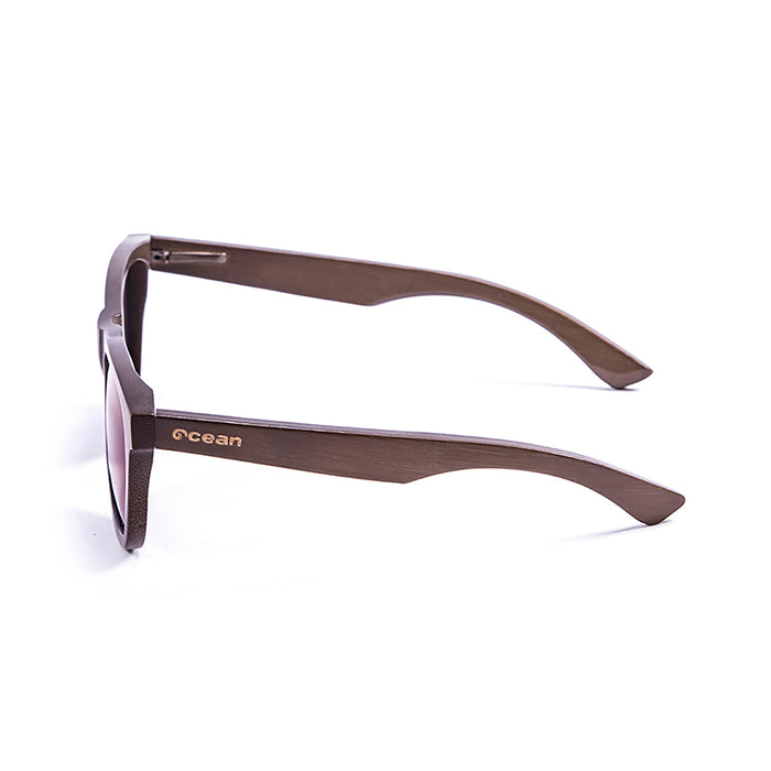 ocean sunglasses KRNglasses model VICTORIA SKU 53003.01 with bamboo brown frame and smoke lens