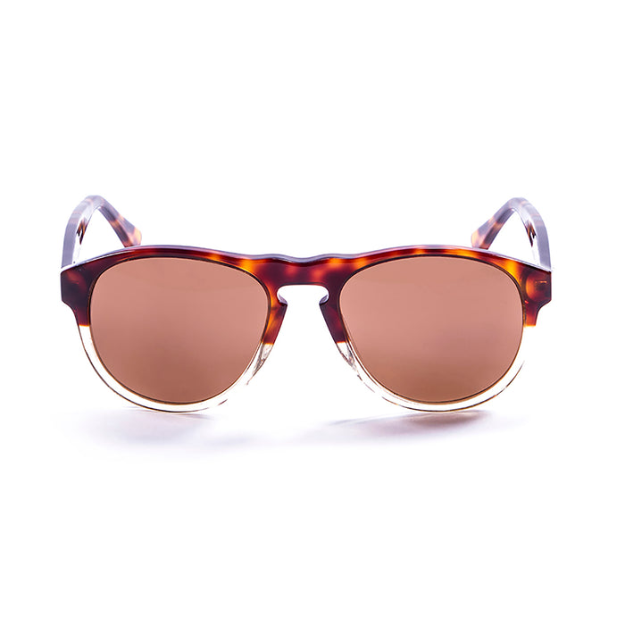 ocean sunglasses KRNglasses model WASHINGTON SKU 5000.99 with demy brown & champagne frame and brown lens