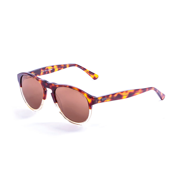ocean sunglasses KRNglasses model WASHINGTON SKU 5000.98 with demy brown & blue transparent frame and smoke lens