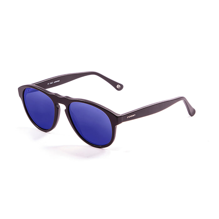 ocean sunglasses KRNglasses model WASHINGTON SKU 5000.95 with dark brown transparent frame and brown lens