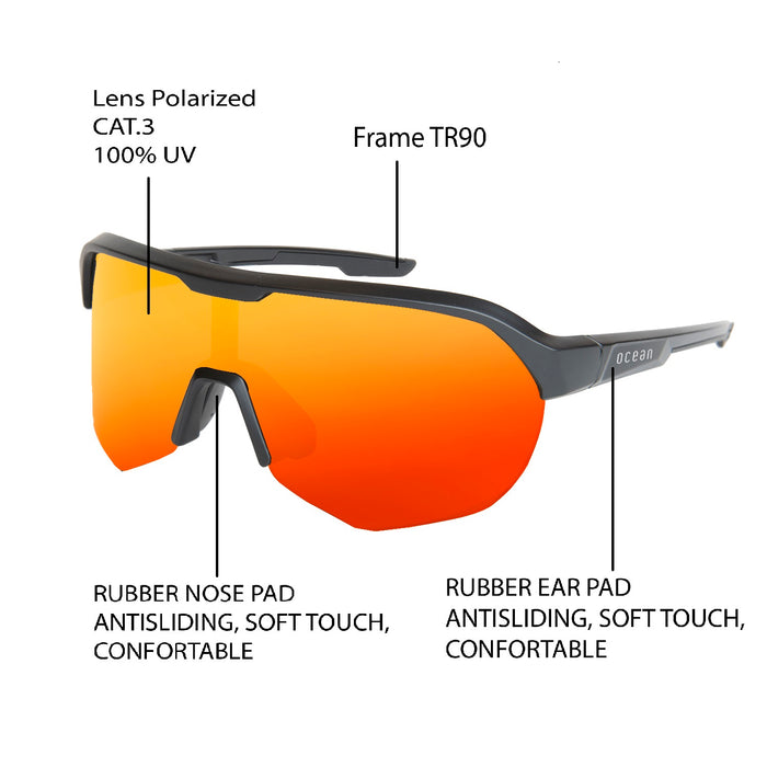 OCEAN WULING Polarized Sport Performance Sunglasses  KRNglasses.com