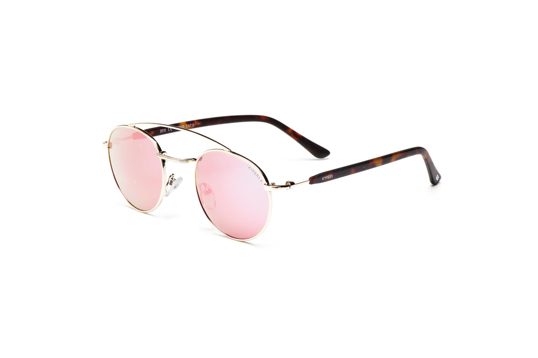 KYPERS sunglasses model ZOE ZO006 with silver frame and gradient blue lens