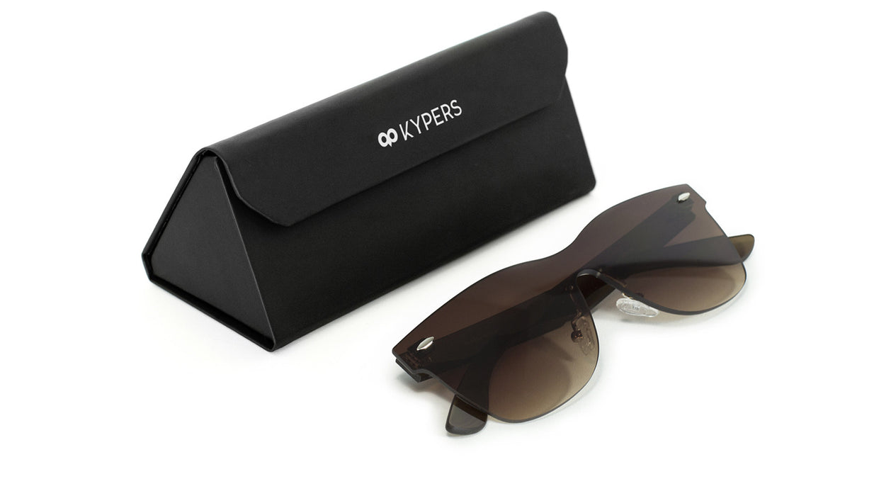KYPERS sunglasses model IRLANDA IR003 with black frame and gradient green lens