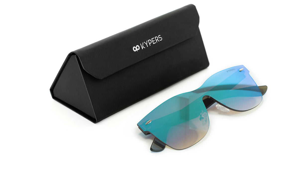 KYPERS sunglasses model IRLANDA IR005 with black frame and green mirror lens