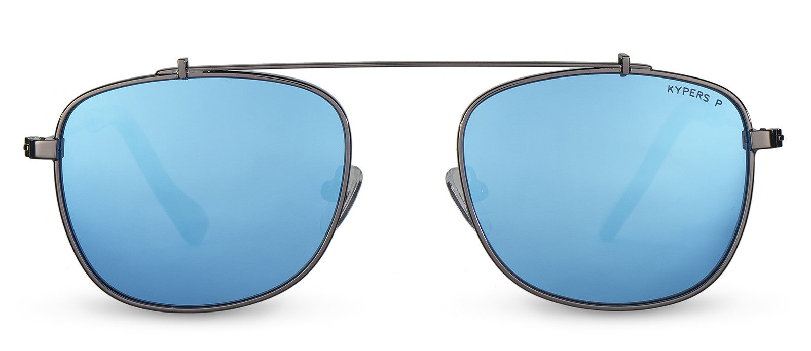 KYPERS sunglasses model ROB RB004 with silver frame and blue revo lens