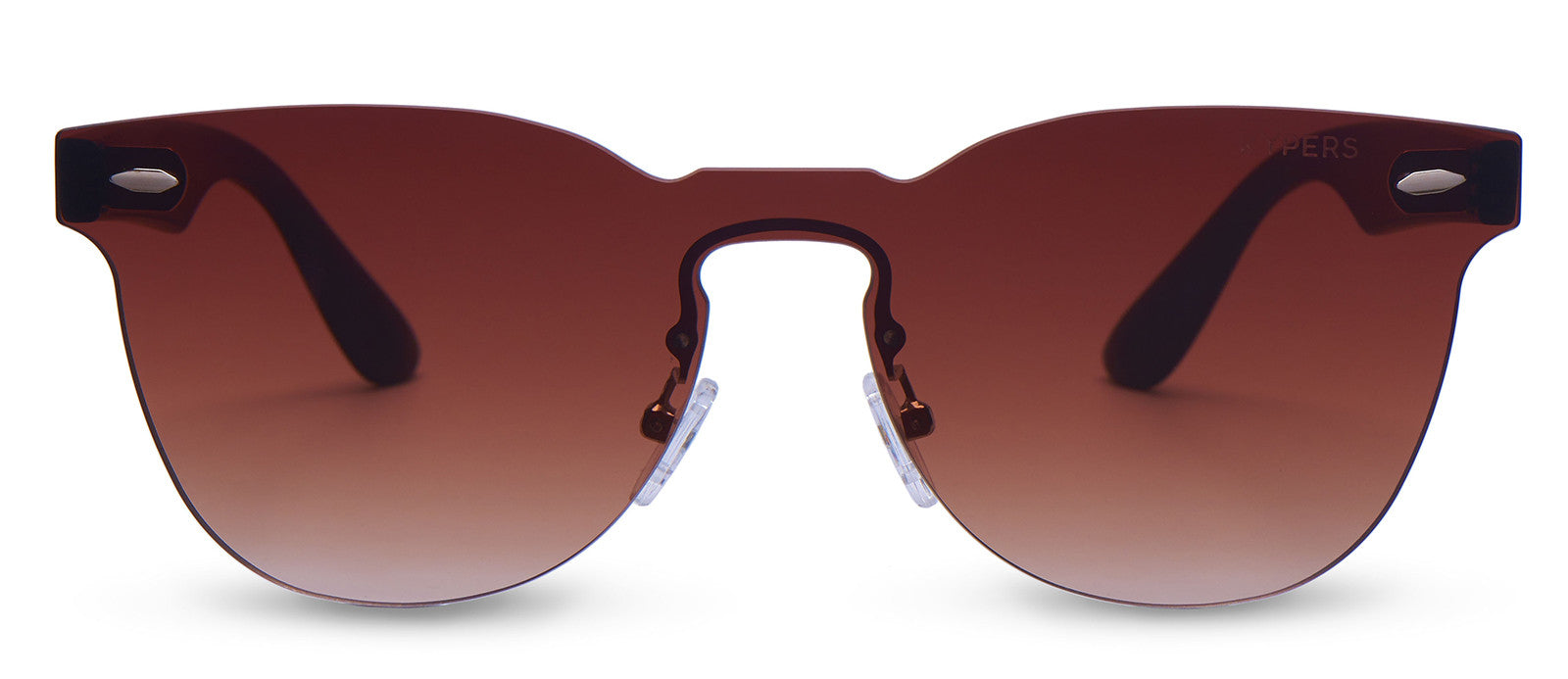 KYPERS sunglasses model ROSE RS001 with black frame and gradient brown lens