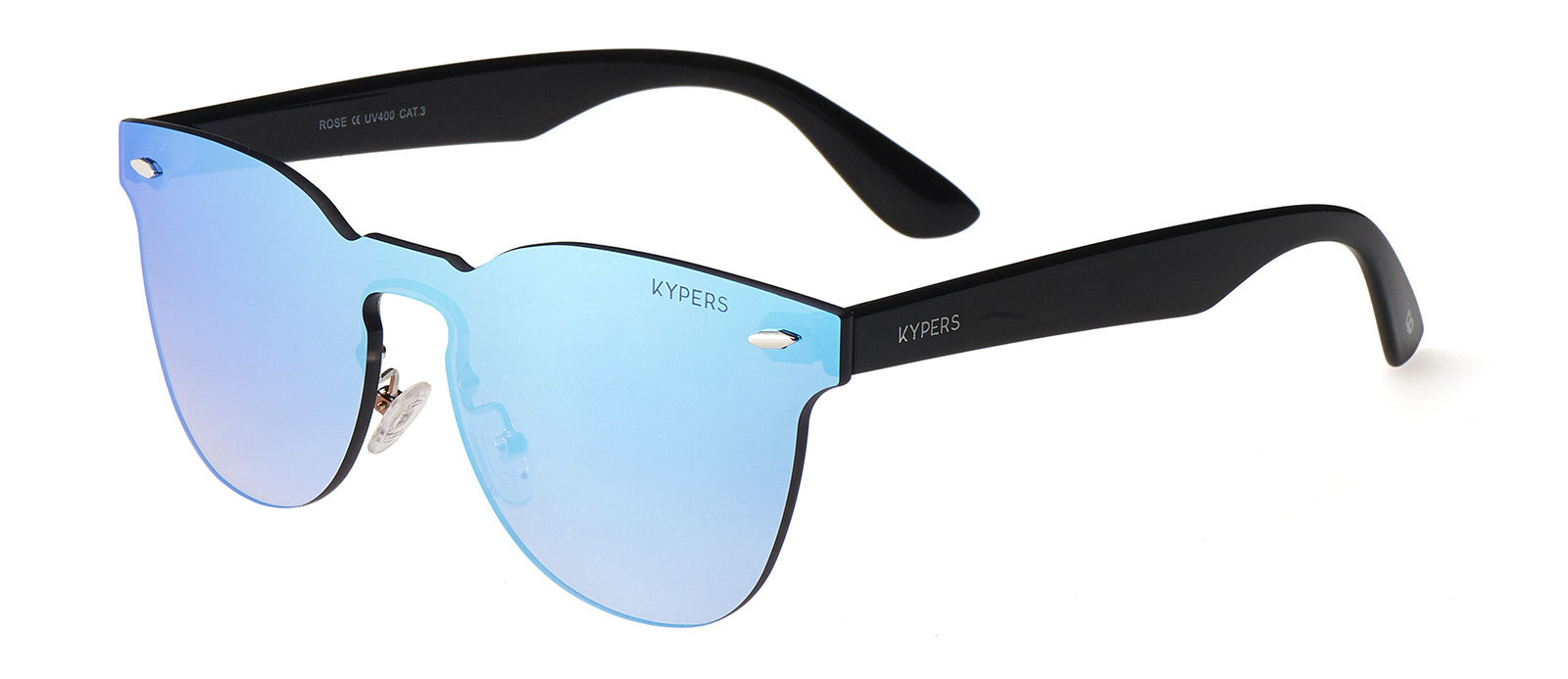 KYPERS sunglasses model ROSE RS007 with black frame and pink mirror lens