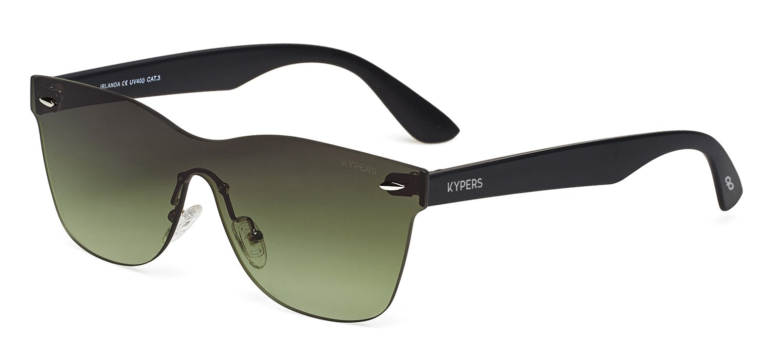 KYPERS sunglasses model IRLANDA IR008 with black frame and red mirror lens