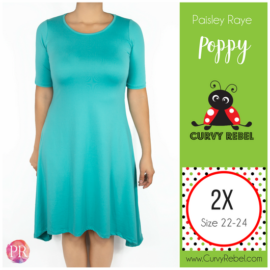 Paisley Raye Poppy Dress - Shop this and other amazing styles at www.CurvyRebelBoutique.com!
