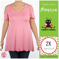 Paisley Raye Plumeria Top - Shop this and other amazing styles at www.CurvyRebelBoutique.com!