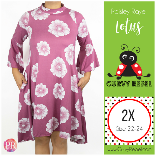 Paisley Raye Lotus dress - Shop this and other amazing styles at www.CurvyRebelBoutique.com!