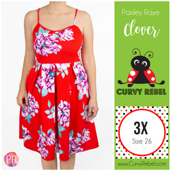 Paisley Raye Clover Dress - Shop this and other amazing styles at www.CurvyRebelBoutique.com!