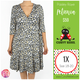 Paisley Raye Petunia Wrap Dress - Shop this and other amazing styles at www.CurvyRebel.com!