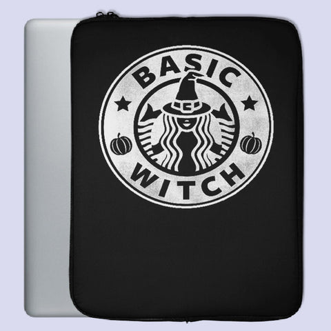 Basic Witch Starbuck Parody Logo Laptop Sleeve | Teesmarvel