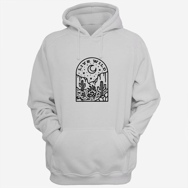 Live Wild Art Men Hoodies | Women Hoodies | Teesmarvel