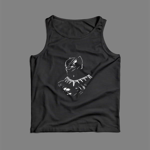 Black Panther Silhouette Men Tank Top | Teesmarvel