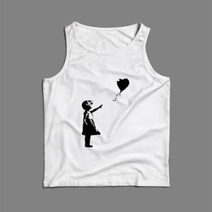 Banksy Balloon Art Men Tank Top | Teesmarvel