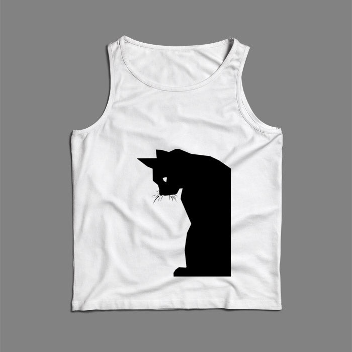 Cat Silhouette Men Tank Top | Teesmarvel