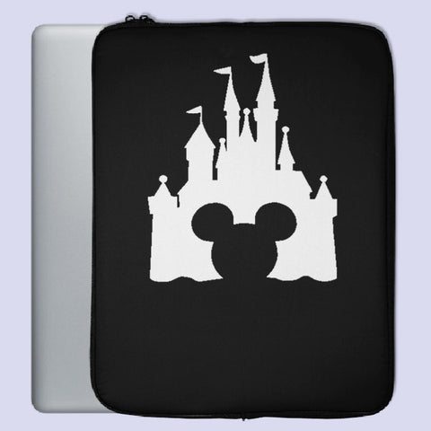 Head Mickey Mouse Castle Laptop Sleeve | Teesmarvel