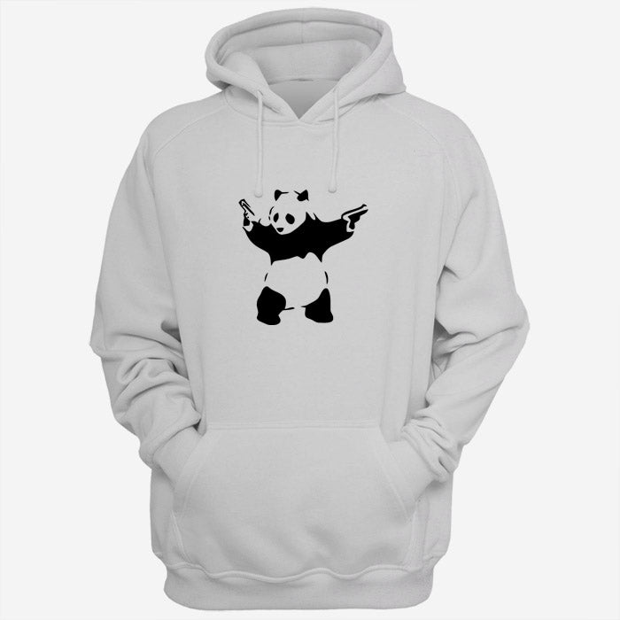 Banksy Panda Pistol Art Men Hoodies | Women Hoodies | Teesmarvel