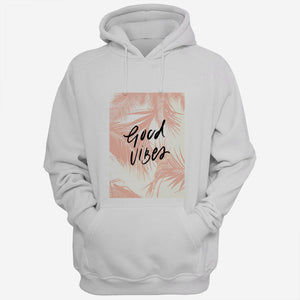 Peach Palm Good Vibes Quotes Men Hoodies | Women Hoodies | Teesmarvel