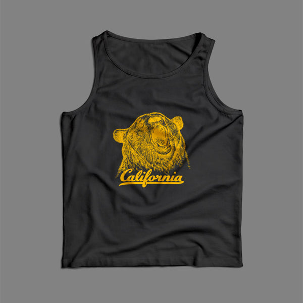 California Bear Illustration Men Tank Top | Teesmarvel