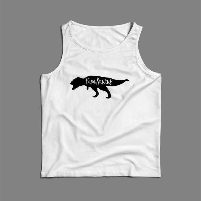 Papa Saurus Art Men Tank Top | Teesmarvel