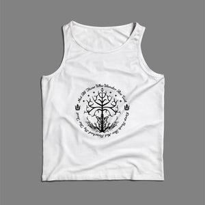 White Tree Of Hope Men Tank Top | Teesmarvel