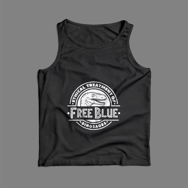 Ethical Treatment Of Free Blue Dinosaurs Jurassic World Fallen Kingdom Men Tank Top | Teesmarvel