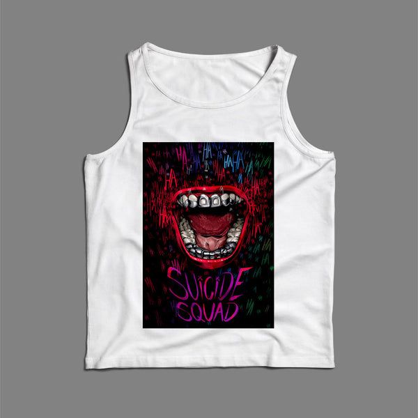 Joker Mouth Suicide Squad Art Men Tank Top | Teesmarvel