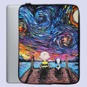 Van Gogh Starry Night Snoopy Character