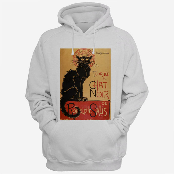 Tournee Du Chat Noir De Rodolphe Salis Black Cat Poster Men Hoodies | Women Hoodies | Teesmarvel