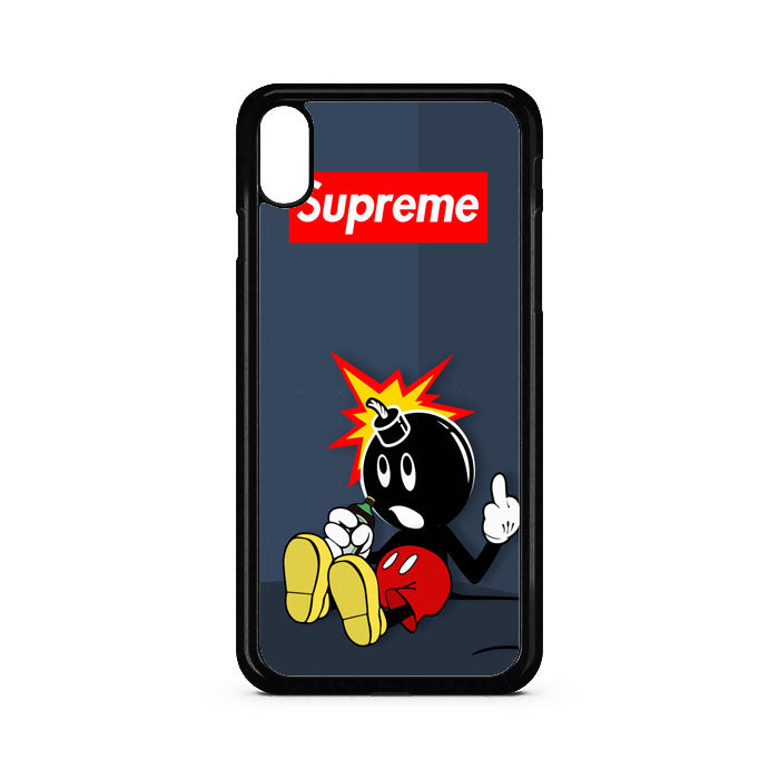 Adam Bomb The Hundreds Bomb Mickey Mouse iPhone XR Case | Teesmarvel