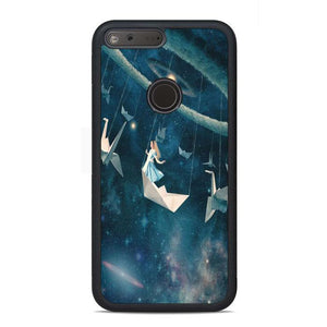 Alice In Wonderland Paper Boat Google Pixel Case | Teesmarvel