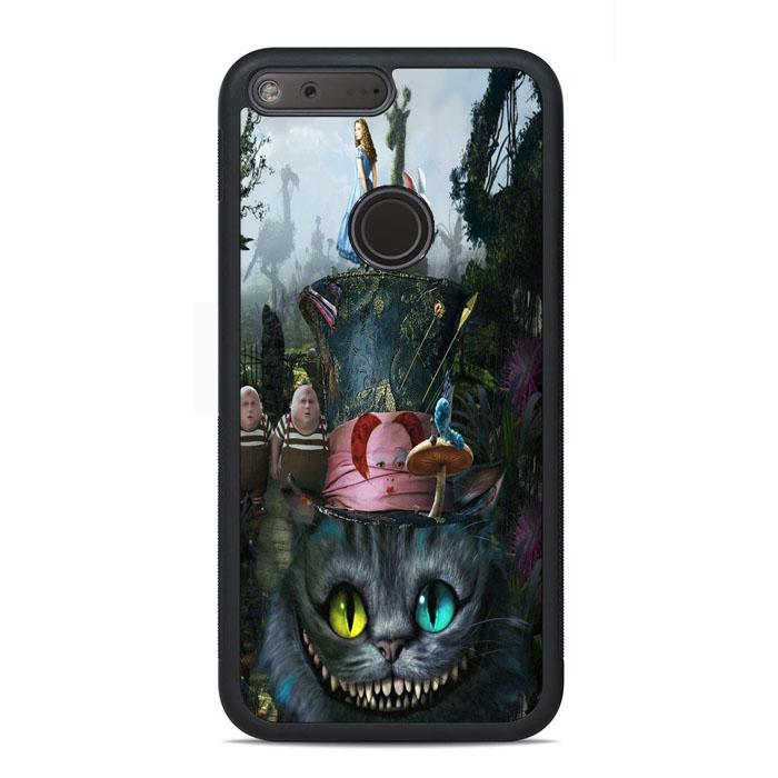 Alice In Wonderland Series Cheshire Google Pixel Case | Teesmarvel