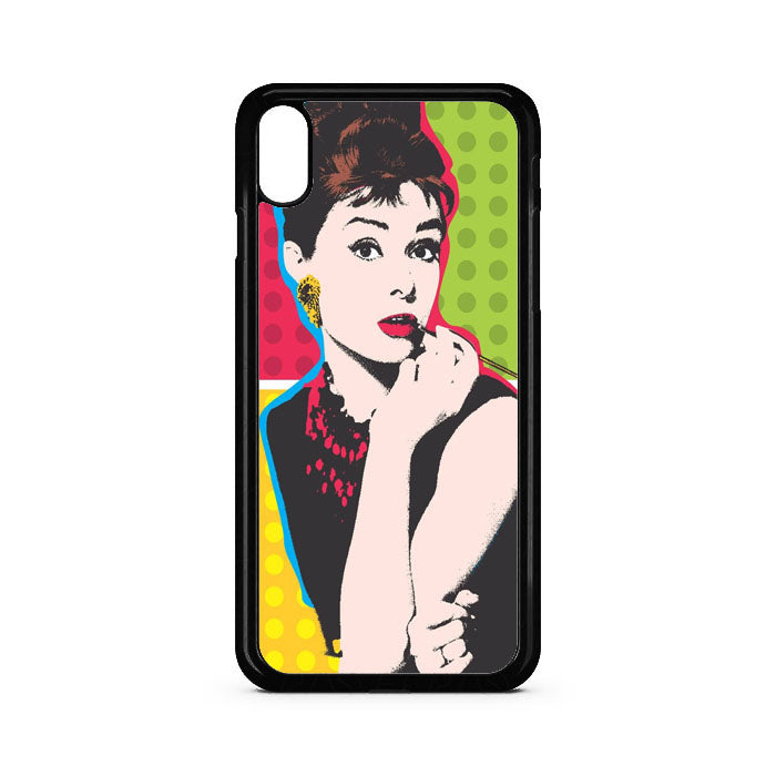 Audrey Hepburn Art iPhone XR Case | Teesmarvel
